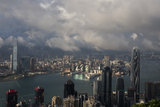 Hong Kong city skyline with Victoria Harbor Royalty Free Stock Image