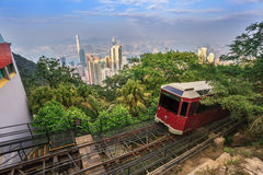Victoria Peak Tram - Hong Kong Stock Photo