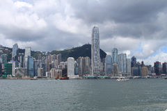 Hong Kong City Skyline vid dag Arkivbild