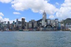 Hong Kong City Skyline vid dag Fotografering för Bildbyråer