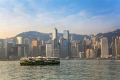 Hong Kong city skyline Stock Photo