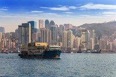 Hong Kong city skyline Stock Photos