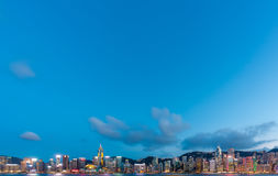 Hong Kong City and Skyscape Royalty Free Stock Image