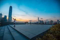 Hong Kong City and Skyscape. Hong Kong  City and Skyscape 2016 Royalty Free Stock Photo