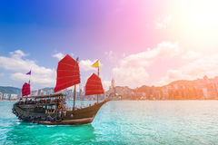 Hong Kong City and Skyscape Royalty Free Stock Photo