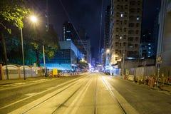 Hong Kong city streets at night Royalty Free Stock Photography