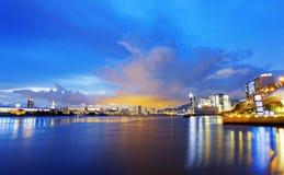 Hong Kong city sunset Royalty Free Stock Photography