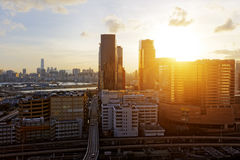 Hong Kong City Sunset Stock Photo