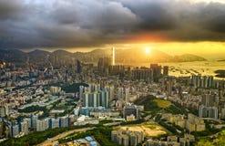 Hong Kong City Sunset Royalty Free Stock Images