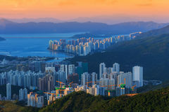 Hong Kong city top view Stock Images