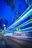 Hong Kong of City traffic at night Stock Photo
