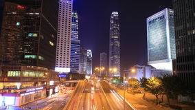 Hong Kong city and traffic at night. Time-lapse of Hong Kong city and traffic at night stock video footage