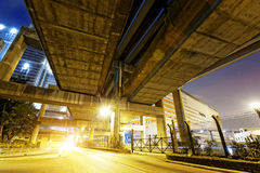 Hong Kong City Traffic Night Stock Image