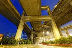 Hong Kong City Traffic Night Stock Photography
