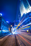 Hong Kong of City traffic at  station night Stock Photo