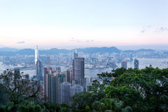 Hong Kong city from Victoria Peak Stock Images
