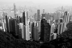 Hong Kong city view in black and white Stock Photography