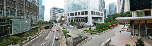 Hong Kong City. View of Hong Kong main streets on November 09, 2013 in Hong Kong, PRC royalty free stock image