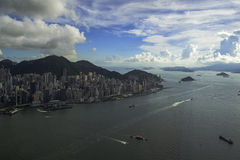 Hong Kong city. View from The Peak royalty free stock photo