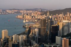 Hong Kong city view from the Peak Royalty Free Stock Photography