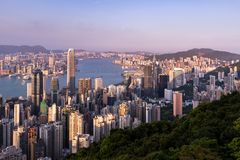 Hong Kong city view from the Peak Royalty Free Stock Photos