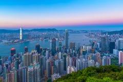 Hong Kong city view from peak Royalty Free Stock Photo