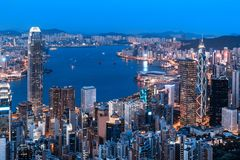 Hong Kong city view from the Peak Royalty Free Stock Images