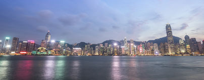 Hong Kong city, view from Victoria Harbour Royalty Free Stock Images