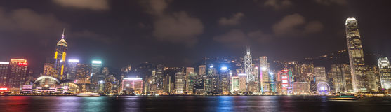 Hong Kong city, view from Victoria Harbour Stock Photos