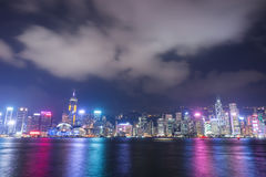 Hong Kong city, view from Victoria Harbour Royalty Free Stock Photography