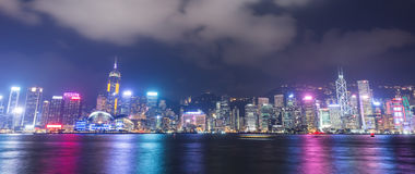 Hong Kong city, view from Victoria Harbour Royalty Free Stock Image