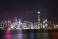 Hong Kong city, view from Victoria Harbour Royalty Free Stock Photos
