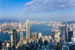 Hong Kong city view from Victoria peak Royalty Free Stock Photo