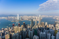 Hong Kong city view from Victoria peak Stock Photography