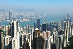 Hong Kong cityscape Royalty Free Stock Photos