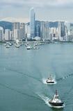 Hong Kong Cityscape Arkivfoton