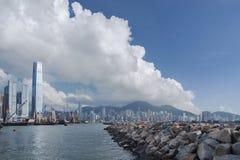 Hong Kong Cityscape Fotografering för Bildbyråer