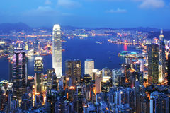 Hong Kong Cityscape Royalty Free Stock Photo