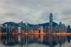 Hong Kong Cityscape. Choose location at reflect water and subject stock photo
