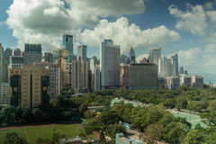 Hong Kong cityscape in daytime royalty free stock photography