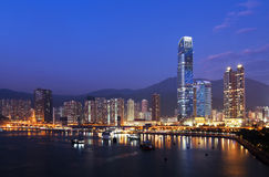 Hong Kong Cityscape at Evening Royalty Free Stock Photography
