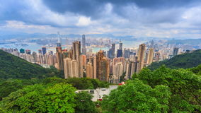 Hong Kong Cityscape High Viewpoint der Spitze stock video