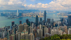 Hong Kong Cityscape High Viewpoint Of The Peak Time Lapse stock video