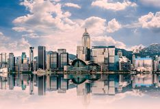 Free Hong Kong Cityscape In The Morning : View From Victoria Harbour. Stock Photos - 144721453