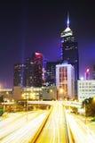 Hong Kong Cityscape at Night. Stock Photography