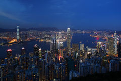 Hong Kong cityscape at night Royalty Free Stock Photo
