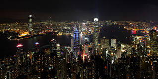 Hong Kong cityscape at night Royalty Free Stock Photography