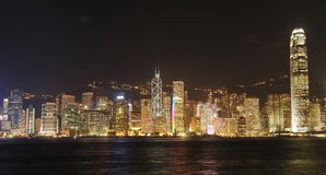 Hong Kong cityscape at night Stock Photography