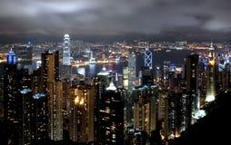 Hong Kong Cityscape at Night. Hong Kong island photographed from Victoria's Peak at night Stock Photography