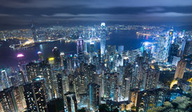 Hong Kong Cityscape at night Royalty Free Stock Image